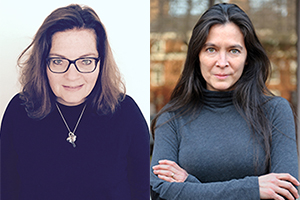 Photos of A.R.T. Terrie and Bradley Bloom Artistic Director Diane Paulus (r) and A.R.T. Executive Producer Diane Borger (l). Paulus' image by Susan Lapides.