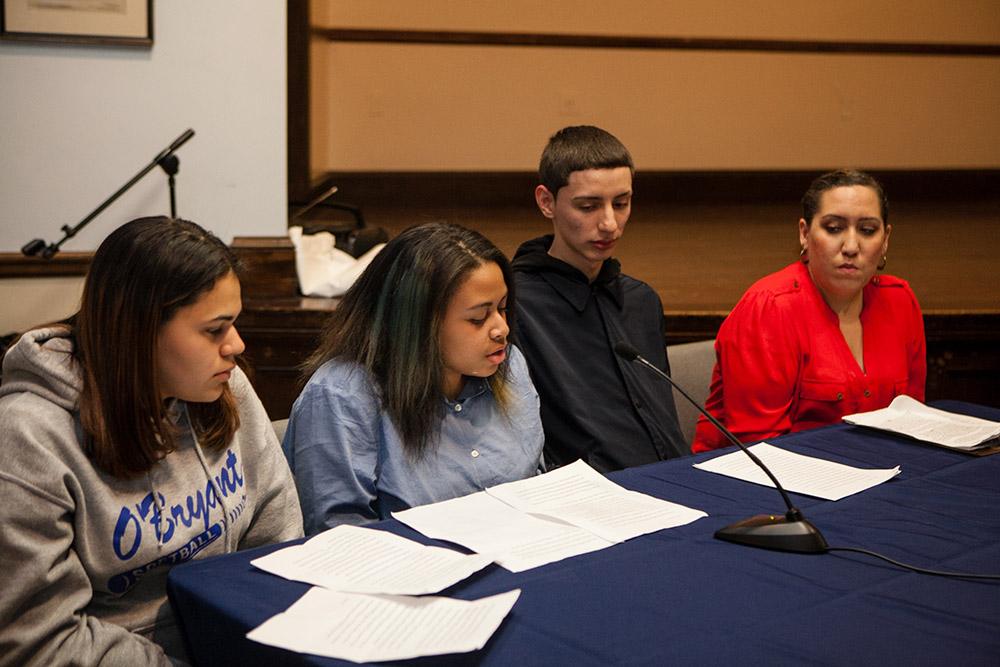 Boston City Council Latin Quarter hearing in April 2016, where several of HSTF youth testified.